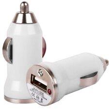 USB Car Charger Adaptor Plug 12V White