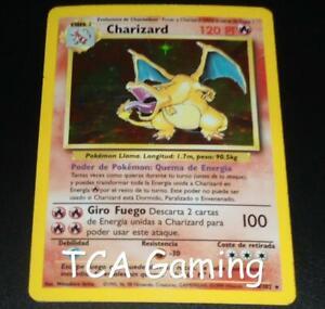 Charizard 4/102 SPANISH Base Set HOLO RARE Pokemon Card PLAYED