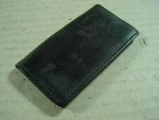 Alter Taschenspiegel im Lederetui mit Kamm, Siegel, Etui aus Leder um 1900.