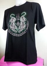 Thai Boxing T Shirt Men Black Color Art Short Sleeve Size L Sport Cotton 100% N3
