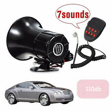 CAR SIREN HORN 12V LOUD PA NOVELTY FUN AIR 7 SOUNDS ANIMAL FUNNY MICROPHONE UK