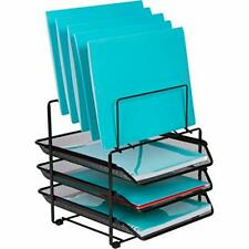 Mesh Desk Organizer and Storage - Office Organizer with 3 Sliding Letter Trays