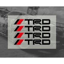 4 piezas Manija de la puerta de la Etiqueta Engomada Negro TRD Racing insignia para MR2 AURIS PRIUS YARIS
