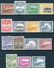 ANTIGUA-1953-62 Set to $4.80 Sg 120a-134 FINE USED V29579