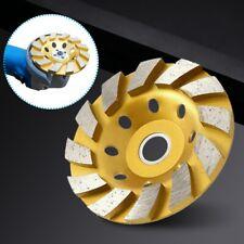 "4"" 100mm Gold Diamond Segment Bowl Cup Grinding Wheel Concrete Grinder Disc Cut"