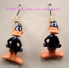 Funky DAFFY DUCK EARRINGS-Looney Tunes Bugs Bunny Mini Figure Costume Jewelry