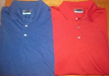 Lot of 2 New PGA TOUR Men's Heathered Tech Polos Red & Blue Size XL / NWOT