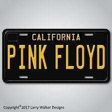 PINK FLOYD Black 1960s Vintage California Aluminum Vanity License Plate Tag