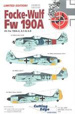 1:48 Focke-Wulf Fw-190A-4, A-5, A-8 #5 Cutting Edge Model Decals NOS CED48105