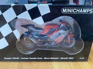 Minichamps 1:12 Yamaha YZR M1 Fortuna Yamaha Team Marco Melandri MotoGP 2003