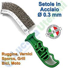 Spazzola Manuale Setole in Acciaio Ø 0,3mm SIT Ruggine Metalli Barbecue SPID