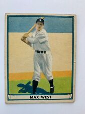 1941 #2 Play Ball (R336) Boston Bees Outfielder Max West EX Baseball Card.