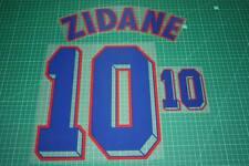 France 98/00 #10 ZIDANE Awaykit Nameset Printing