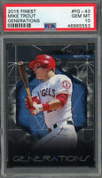 Mike Trout Angels 2015 Topps Finest Generations Baseball Card #FG-43 PSA 10