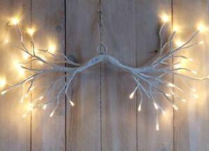 LED Lichterzweig Zweig Ast Licht hängend weiß warmweiß Timer innen außen Deko