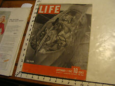 Vintage Life Magazine: SEPT 7 1942: WAR GLIDERS; WOMEN SOLDIERS; BRAZIL TO WAR