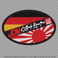 JDM Import Tuner Decal Sticker Japan Germany Flag Rising Sun Kanji P046_05