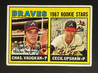 Chas Charlie Vaughn signed 1967 Topps Rookie baseball card #179 Auto Autograph 1