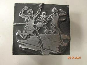 Printing Letterpress Printer Block Decorative Running Race Print Cut