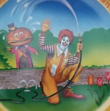 Vtg 1977 Ronald McDonald Watering Flowers Mayor McCheese Spring Collector Plate