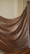 "3 mtwo tons marron clair/doré imprimé cachemire robe jacquard Tissu 58"""
