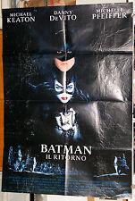 Michael Keaton Tim Burton BATMAN IL RITORNO manifesto 2F originale 1992