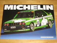 BMW M3 E30 POSTER 28 - MICHELIN MEISTER 1987 ALPINA RAR ORIGINAL VINTAGE IN MINT