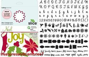 SLICE Design Card NOEL 35675 MIRRORING SHADOWING LAYERING Making Memories