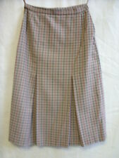 Ladies Skirt - Dannimac, size 36EUR, beige/red/navy check 45% wool, used - 0785