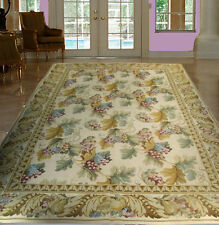 FRENCH COTTAGE STYLE 6X9 NEEDLEPOINT DOUBLE KNOT RUG