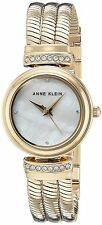 Anne Klein Ladies Gold-Tone Snake Chain Bracelet Watch 26mm AK/2758MPGB