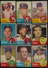 1963 Topps Baseball G avg lot of 298 different cards vy low grade BV $2694 56946