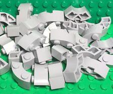 Lego X20 Light Bluish Gray Round Corner 2x2 Macaroni Brick w/ Stud Notch Parts