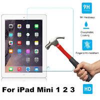 100% 9H Premium Tempered Glass Screen Protector Film For Apple iPad Mini 1 2 3