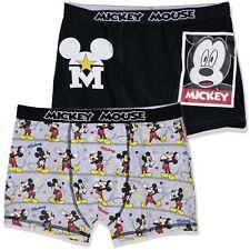 Disney Mickey Mouse Hombre Personaje Divertido Algodón Shorts Boxers Hispers