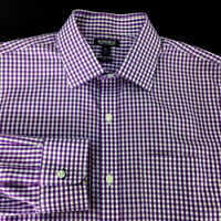 Mens Bonobos Button Shirt Size 16 1/2 35 Long Sleeve Slim Plaids Wrinkle Free