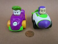 FISHER-PRICE DISNEY Little People Wheelies BUZZ LIGHTYEAR Toy Story & The Joker