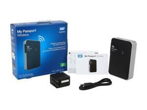 WD 2TB My Passport Wireless WDBDAF0020BBK-NESN USB 3.0 Portable Black