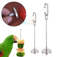 Vegetables Fruits Holder Skewer Stick Toy for Parrot Budgie Bird Rabbit Cage ZY