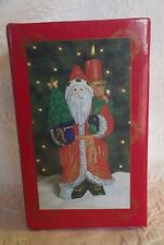 """Home For The Holidays Santa Claus Figurine Candle Holder Christmas 8"""" New"""