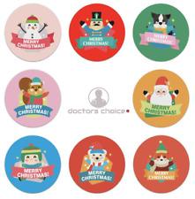 Halloween Traiter Cadeau de Noël Stickers merci Merry Business Labels 25 mm