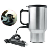 12V 450ml Stainless Steel Kettle Car Cup Pot Water Heater Warmer Cigar Lighter