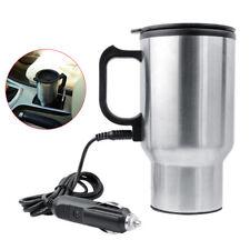12 V 450 ml Acier Inoxydable Bouilloire Voiture Tasse Pot Chauffe-eau chauffe-cigare
