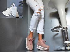 Sexy XL Plateau Damenschuhe Trendy Freizeit Schnürer Party Pumps Sneaker 36/41