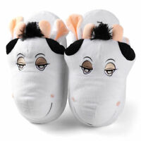 Adult Kid's Cow Animal Plush Stuffed Slippers Winter Warm House Indoor Shoes