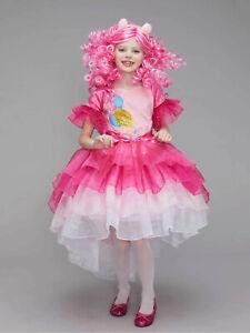 My Little Pony Pinkie Pie Fancy Dress Costume Chasing Fireflies Girls Sz 6 (S)