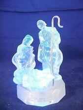 "4"" acrylic nativity figure, lights up LEDs"