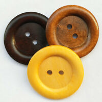 20pcs Wooden Wood Button Big 50MM Round Wine Coffee Brown Craft Sewing Coat Hat