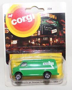 Corgi junior very rare Autorent Chevy van promotional issue 1983 MINT Perfect