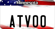 ATV license Plate, Minnesota Flag  ATV License Plate
